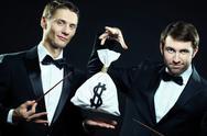 Business magicians Stock Photos
