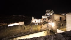 Church of San Pietro Caveoso, Peter and Paul, Matera Stock Footage