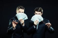 Two swindlers Stock Photos