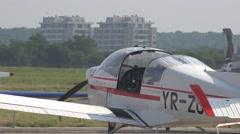 BANEASA ROMANIA-JULY 5 2016Pilots preparing for flight aerobatic planes  4k UHD Stock Footage