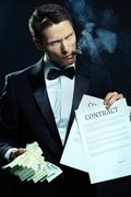 Financial mafia Stock Photos