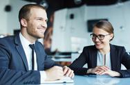 Informal business relationship Stock Photos