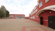 Demetrius Agricultural College. The building is made of red brick. Stock Footage