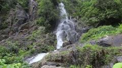 Krok I Dok waterfall in Saraburi at Thailand Stock Footage