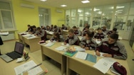 Demetrius Agricultural College. Students at the school, theoretical lessons. Stock Footage