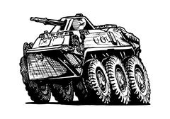 Armored troop-carrier Stock Illustration