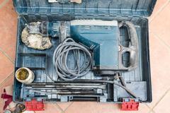 Professional pneumatic hammer drill perforator Kuvituskuvat