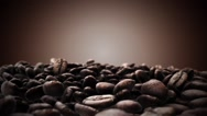 Brown coffee beans Stock Footage