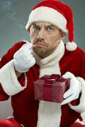 Misbehaving Santa Stock Photos