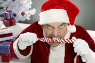 Aggressive Santa Stock Photos