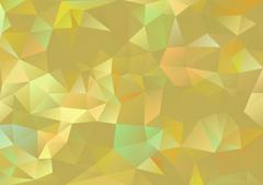 Cubism background Gold and pale multicolor Stock Illustration