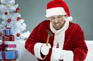 Nasty Santa Stock Photos