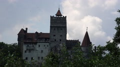 Timelapse in a summer sunny day with the Bran Castle Transylvania 4k Stock Footage