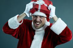 Mad Santa Stock Photos