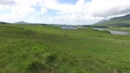 View to lake or river at connemara in ireland  32 Stock Footage