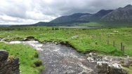 View to river and hills at connemara in ireland  38 Stock Footage