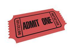 Ticket admit one concept 3d illustration Stock Illustration