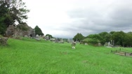 Old celtic cemetery graveyard in ireland 63 Stock Footage