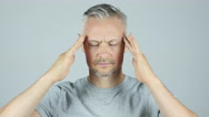 Man with headache, Frustration, Tension, Depressed Stock Footage