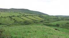 Farmland field at wild atlantic way in ireland 74 Stock Footage