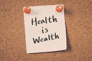 Health is Wealth Stock Photos