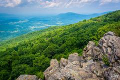 View from South Marshall, along the Appalachian Trail in Shenandoah National  Stock Photos