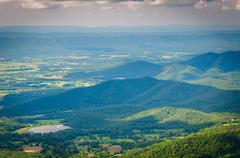 View of Lake Arrowhead and the Shenandoah Valley from Skyline Drive, in Shena Stock Photos