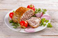 Pork head cheese Stock Photos
