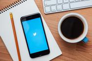Twitter is an online social networking and microblogging service Stock Photos