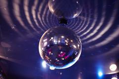 Close-up of sparkling evening ball Stock Photos