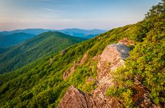 View of the Blue Ridge Mountains from the Pinnacle, along the Appalachian Tra Stock Photos