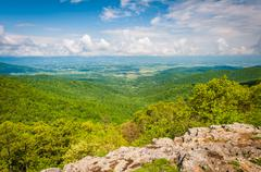 View of the Shenandoah Valley from Franklin Cliffs Overlook, in Shenandoah Na Stock Photos