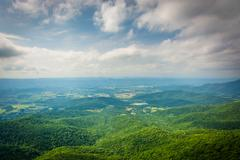 View of the Shenandoah Valley from Little Stony Man Cliffs, in Shenandoah Nat Stock Photos
