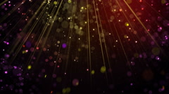 Festive glitter particles falling in light rays loop 4k (4096x2304) Stock Footage