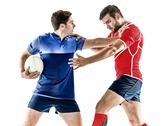 Rugby player men isolated Stock Photos