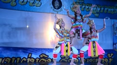 Manora or Manorah dances traditional dance performance art of the South Thailand Stock Footage