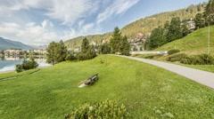 St.Moritz, Engadin, Switzerland Stock Footage