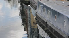 High shot of House Boat on the canal Stock Footage