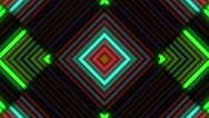 Colorful Neon Lamps Wall audiovisual background Stock Footage