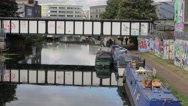 Canals in Urban area of London Stock Footage