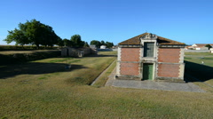 Military stables, Brouage, fortified town, Charente Maritime, France, EU, Europe Stock Footage