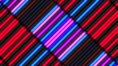 Blue and red neon lamps Wall abstract VJ background Stock Footage