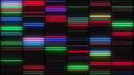 Colorful Neon Lamps Wall VJ loop Stock Footage