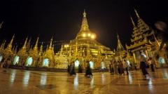 Shwedagon pagoda timelapse Stock Footage