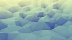 Toned polygonal geometric background seamles loop 3D render 4k UHD (3840x2160) Stock Footage