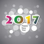 Best Wishes - Abstract Modern Style Happy New Year Greeting Card or Background Stock Illustration