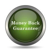 Money back guarantee icon. Internet button on white background. . Stock Illustration
