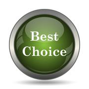 Best choice icon. Internet button on white background. . Stock Illustration
