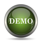 Demo icon. Internet button on white background. . Stock Illustration