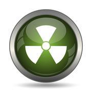 Radiation icon. Internet button on white background. . Stock Illustration